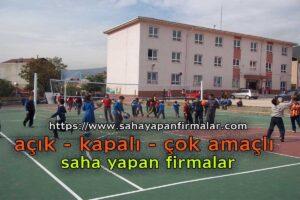 okul çok amaçlı basketbol sahası yapımı